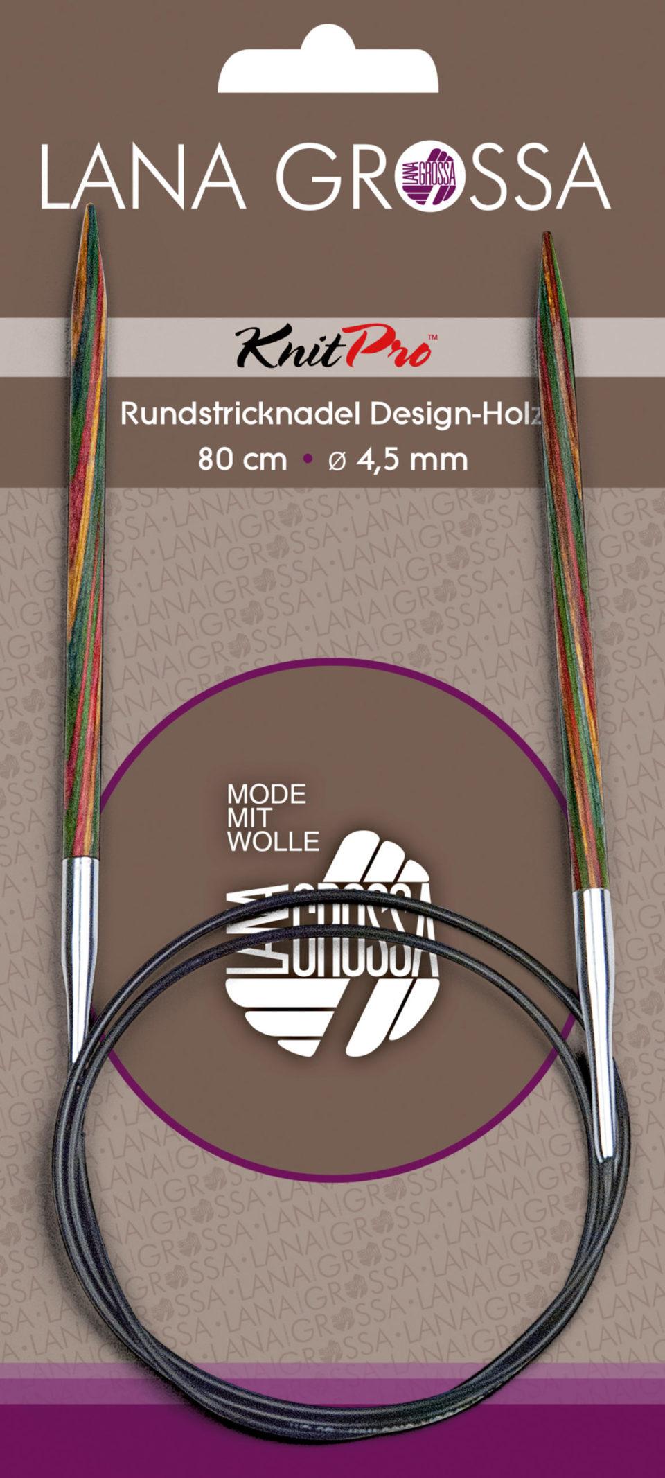 Rundstricknadel Designholz 80 cm Länge
