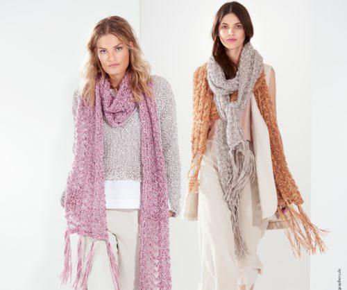 Modellpaket Fransenschal Alcanto & Silkhair Rosa