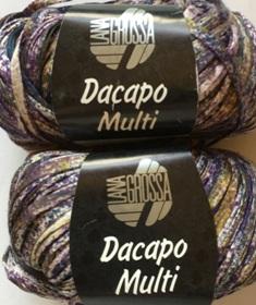 Garnpaket Dacapo Multi Lila-Natur 105 350g