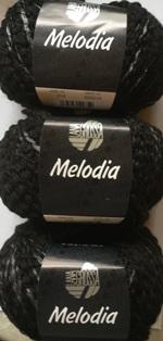 Garnpaket Melodia 014 Schwarz 600g