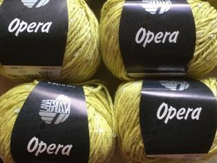 Garnpaket Opera 007 Neongrün 550g