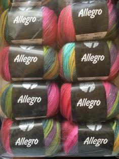 Garnpaket Allegro Fb. 001 Bunt 500g