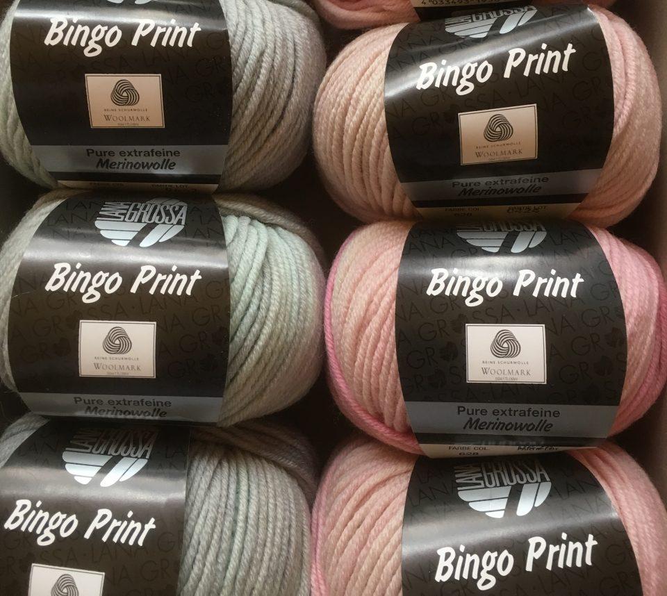 Bingo print rosa + mint