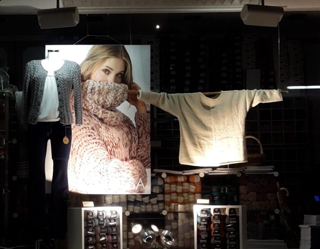 Schaufenster Haus der Wolle März 2019