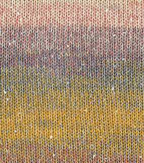 Gomitolo Summer Tweed 002 Orange/Lachs/Maisgelb/Himbeer/Natur/Blau